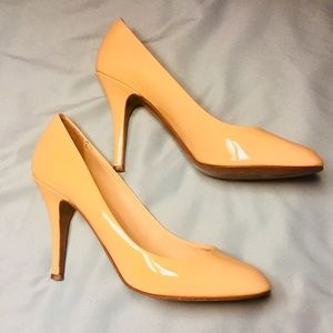 Nude \ Tan Leather J.Crew Heels! Made in Italy!